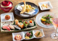 SUSHI 権八 西麻布では、スパークリングワイン等飲み放題付の「SUSHI×GARDEN COURSE」を提供開始いたしました。 春から夏にかけての夜風が心地良い季節、雅趣ある和風庭園で楽しむ寿司ディナーはいかがでしょうか?職人が丹精込めて握る江戸前寿司と、季節のお料理をぜひご堪能ください。 Dining, Food