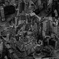 Felt Tip Dystopian Town by ~KinkyBootz on deviantART
