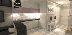 wąski salon z aneksem kuchennym - Szukaj w Google