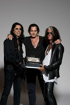 Hollywood Vampires--Alice Cooper, Johnny Depp & Joe Perry!! 3 of my fav people!! And scoping out their tour dates I found out they were here in CT July 2nd and I missed it!!! Highly Upset!! :-(((( {GM}