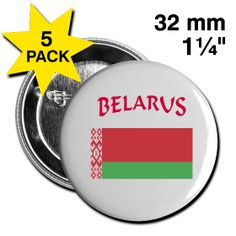 This Belarusian Flag Button 5 Pack is on sale at PersonalizedSouvenirs.com.