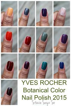 Yves Rocher Botanical Color Nail Polish 2015! Express yourself with color. #nailpolish #fall #nails