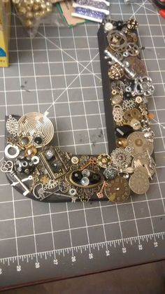 Steampunk Letters MADE TO ORDER by MomsCrazyCrafts on Etsy