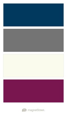 Navy, Charcoal, Ivory, and Sangria Wedding Color Palette - custom color palette created at MagnetStreet.com