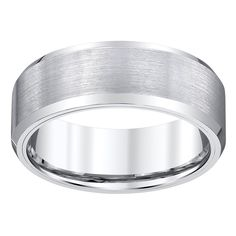 Men's White Tungsten Satin-finish Band by Ever One (Size 11.5)