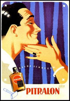 Pitralon aftershave advertisement, 1959