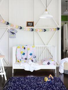 fabric banner via one fine baby