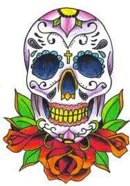 day of the dead skull drawings - Google Search