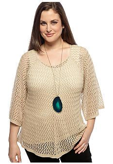 ND® New Directions Plus Size Crochet Tunic. #Belk