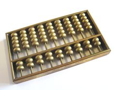 Miniature Brass Abacus, Pocket Calculator, Paperweight, Office Décor by TheWhistlingMan on Etsy SOLD
