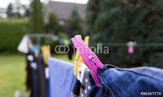 Wäscheleine mit Wäsche 1