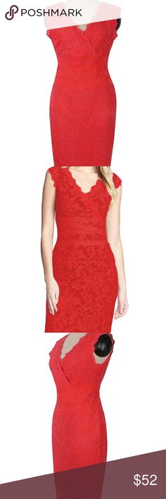 Scalloped Sleeveless Lace Cocktail Dress Scalloped Sleeveless Lace Cocktail Dress Dresses Midi