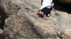 ron wyatt mount sinai   ... rock art at the bottom of Mount Sinai, and even this Hebrew menorah