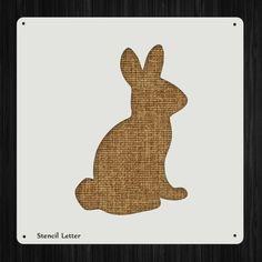 Buny Rabbit 397 DIY Stencil Clear Plastic Acrylic Mylar Reusable by StencilLetter on Etsy https://www.etsy.com/listing/189215886/buny-rabbit-397-diy-stencil-clear