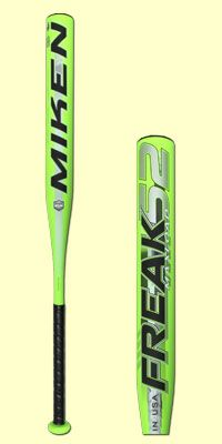 The 2015 Miken Freak 52 Maxload ASA Slow Pitch softball bat is approved for ASA league play and specifically designed for the 52 Core ball only. The Freak is full composite and features the PWR 360 triple wall design technology. It's freakishly hot out of the wrapper and has a Maxload swing weight. The Freak comes with a 12-Month Manufacturer's Warranty & JustBats' FREE shipping! #ClickToHit #Miken #freeshipping #softball #slowpitch #freak #maxload