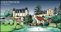 Montrésor en Touraine - Dessin perso