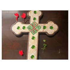 Mosaic cross wall hanging Decorative cross as a wedding gift or... ($140) ❤ liked on Polyvore featuring home, home decor, holiday decorations, cross home decor, cross wall hanging, mosaic home decor and mosaic stained glass