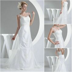 Aliexpress.com : Buy New Princess V Neck Brush Train Lace Sleeveless with Zipper Wedding Dresses from Reliable lace neck wedding dress suppliers on HONEYSTORE CO., LIMITED $495.90