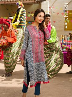 Khaadi Lawn Eid Festival Collection 2015 for Women pakistan Pakistan Fashion, India Fashion, Asian Fashion, Pakistani Outfits, Indian Outfits, Indian Dresses, Eid Dresses, Tunic Dresses, Chic Outfits