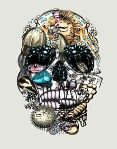 #skull #illustration #vector  http://www.creativeboysclub.com/