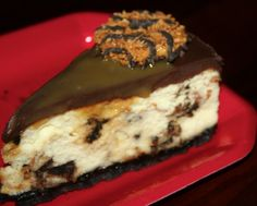Samoas Girl Scout Cookie Cheesecake