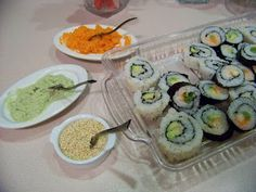 Sid's Sea Palm Cooking: Sushi, California Rolls