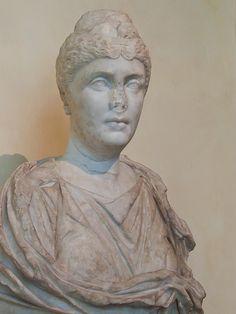 Portrait head of Faustina the Elder wife of the Roman emperor Antoninus Pius 138-150 CE