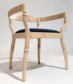 """Chair-o-space"" by Paul Loebach; using state of the art computer and 3D technology combined with wood turning. Look closely, it's deceptivel..."