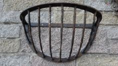 VINTAGE Original Metal Hay Rack WALL FLOWER PLANTERS