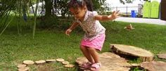 Outdoor play promotes skills such as large and small muscle development as well as hand and eye coordination