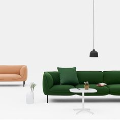Gather sofa by Andreas Engesvik for Edsbyn with textile PITCH Grass. @andreasengesvik @edsbynoffice