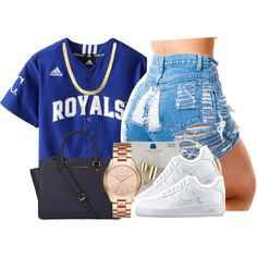 A fashion look from May 2016 featuring NIKE sneakers, Michael Kors tote bags and Michael Kors watches. Browse and shop related looks.