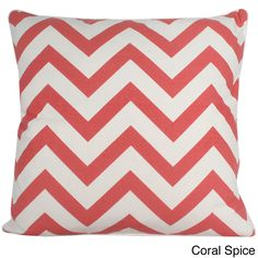 Chevron 20x20-inch Cotton Pillow | Overstock.com Shopping - The Best Deals on Throw Pillows