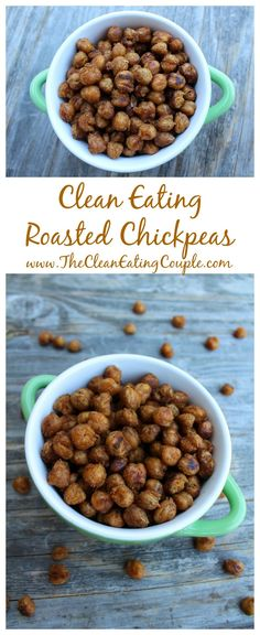 Clean Eating Roasted Chickpeas are the perfect healthy snack to satisfy your crunchy, salty snack cravings! Easy to make, portable and delicious! #KodakMoments #sponsored