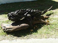 Driftwood sculpture by Jack Marsden Mayer - Ellerslie International Flower Show 2014.