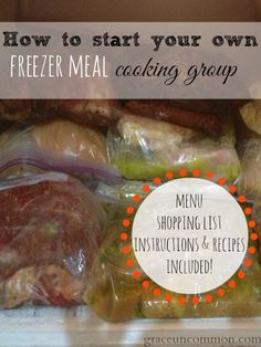 With busy lives it's hard to always get healthy dinner on the table. Step-by-step instructions to start your own cooking group with menu, shopping list, instructions and recipes included!