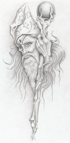 wizzzzzzzard by markfellows on DeviantArt * Fantasy Myth Mythical Mystical Legend Elf Elves Sword Sorcery Magic Witch Wizard Coloring pages colouring adult detailed advanced printable Kleuren voor volwassenen coloriage pour adulte anti-stress kleurpla Wizard Drawings, Pencil Art Drawings, Drawing Sketches, Fantasy Kunst, Fantasy Art, Wizard Tattoo, Deviantart Fantasy, Sword And Sorcery, Arte Horror