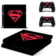 Superman Sticker for PS 4 for Playstation4 Console Skin & Controller Decal Protective Stickers