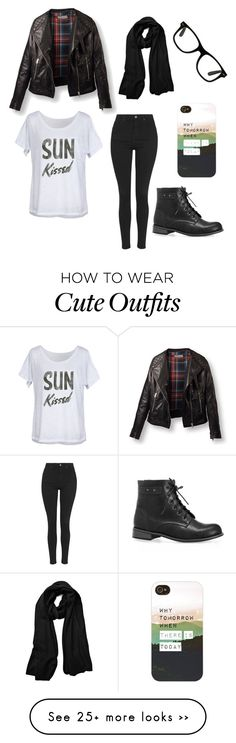 """""""A cute and casual outfit for fall and winter"""" by zoe-jo on Polyvore featuring Avenue, Feather 4 Arrow and Topshop"""