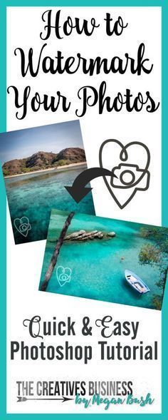 Photography Tips   Learn how to create a watermark to protect your photos with this Photoshop Tutorial. Quick & easily create a transparent watermark to use over and over again. Tutorial complete with step-by-step instructions with photos. Find it online at http://www.thecreativesbusiness.com/create-a-watermark-photoshop-tutorial/ or Pin It for later.
