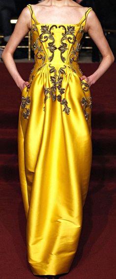 amarillo, vestido