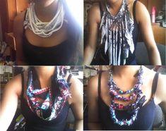 DIY fashion scarfs from tshirts!