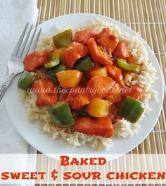 The Country Cook: Baked Sweet & Sour Chicken