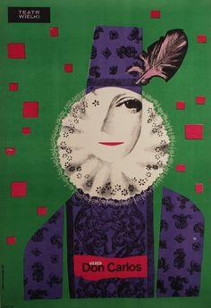 Don Carlos - Giuseppe Verdi   Original Polish opera poster   designer: Jozef Mroszczak   year: 1963