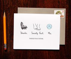 Things That Stinks Sorry Card – Paper Luxe