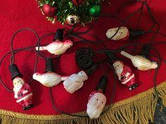 Vintage Figural Light Bulbs NOMA Working Santa Claus Birds Snowman Christmas Set