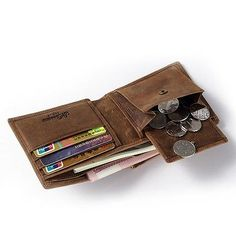MS Men Leather Casual Card Cash Coin Holder Wallet Slim Organizer Trifold Wallet