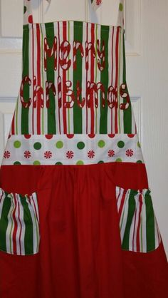 Candy Cane Alpha on Christmas Apron