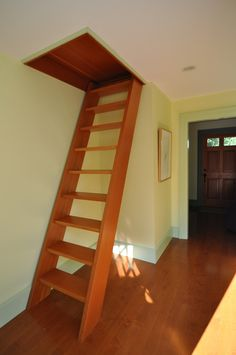 ship ladder to attic storage