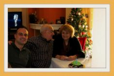 My husband Christos's Anniversary in the house of my son Hlias.